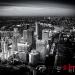 Dramatic aerial image Canary Wharf  London