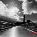 Moody backlit Milenium Bridge London