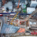 Birds-eye-view London Construction site