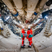 Construction workers in Tunnel Boring Machine