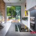 Kitchen Interior with glass patio Door