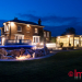 photograph of luxury home at night