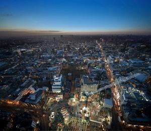 Dusk photography London skyline Tottenham Court Road top image