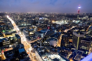 Oxford Street Lit up with Christmas Lights top image