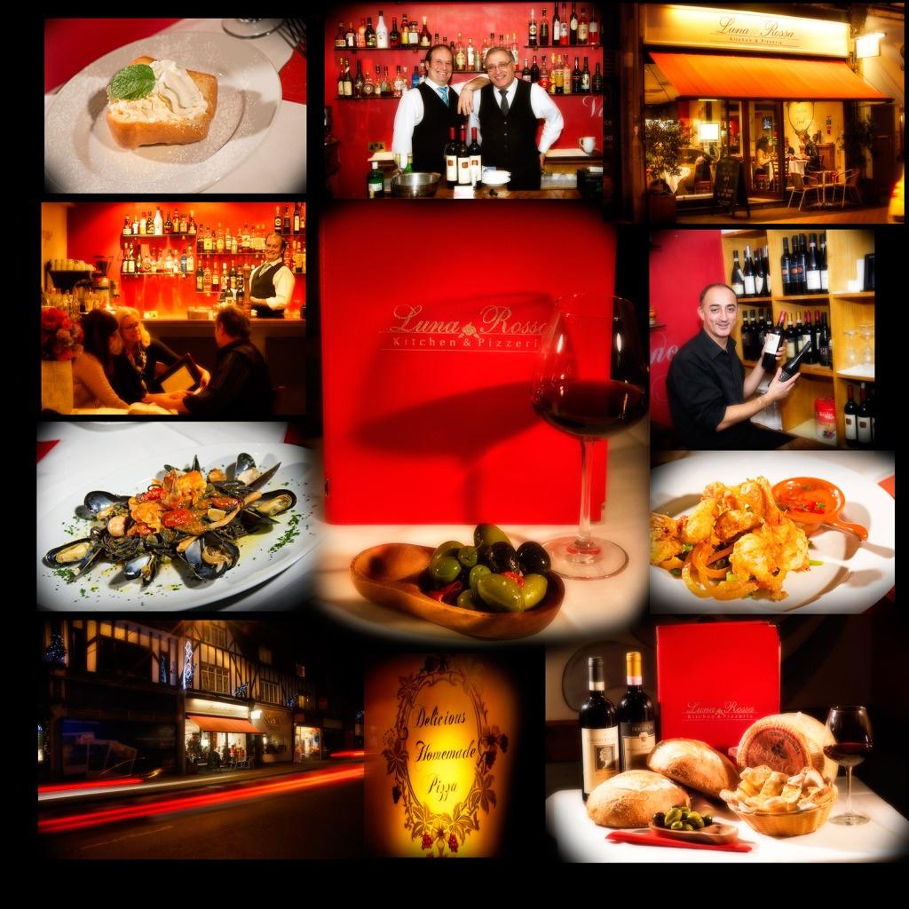 photography intimate Italian restaurant