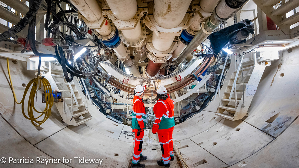Construction Engineers in Tunnel Boring Machine